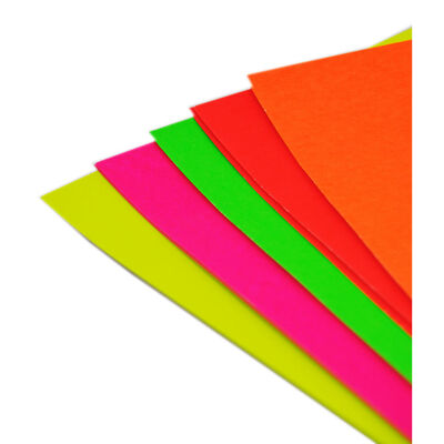 A4 Fluorescent Card - Pack Of 15 image number 1
