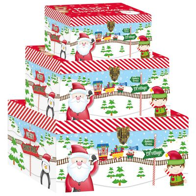 Santa Train Christmas Boxes: Pack Of 3 image number 1
