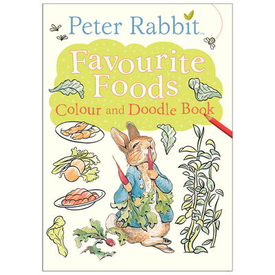 Peter Rabbit: Favourite Foods Colour and Doodle Book image number 1