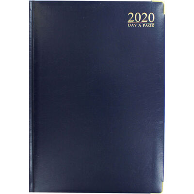 A4 Blue Gold 2020 Day a Page Diary image number 1