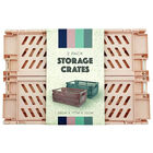 Grey and Pink Foldable Storage Crates: Pack of 2 image number 2