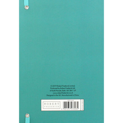 A5 Turquoise and Gold Stripe Lined Notebook image number 3