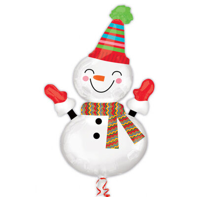 36 Inch Snowman Super Shape Helium Balloon image number 1