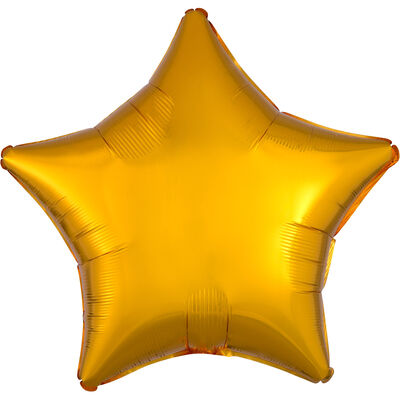 18 Inch Gold Star Helium Balloon image number 1