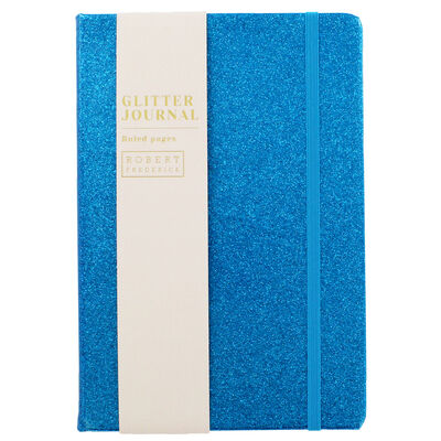 A5 Blue Glitter Cased Lined Journal image number 1