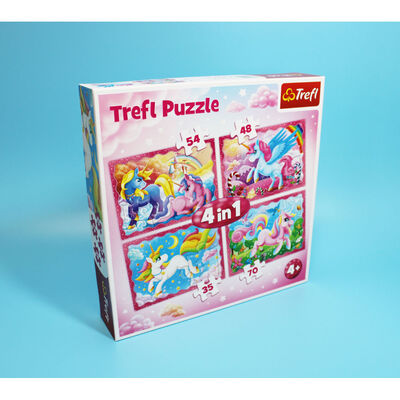 Unicorn 4-in-1 Jigsaw Puzzle Set image number 4