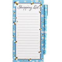 Bee Magnetic Shopping List with Pen