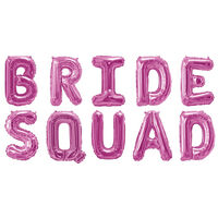Pink Bride Squad Foil 16 Inch Balloon
