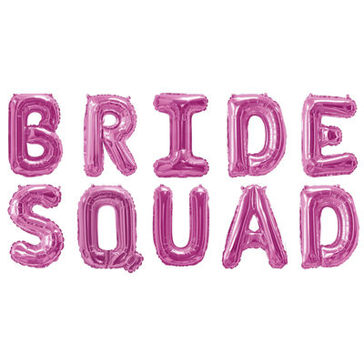 Pink Bride Squad Foil 16 Inch Balloon image number 2