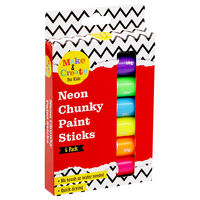 Neon Poster Paint Sticks - 6 Pack