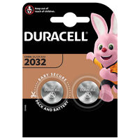 Duracell Plus Power DL CR 2032 Batteries - 2 Pack