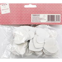 White Wooden Hearts - 60 Pack