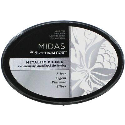 Midas by Spectrum Noir Metallic Pigment Inkpad - Silver image number 1