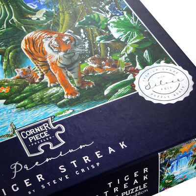 Tiger Streak 1000 Piece Silver-Foiled Premium Jigsaw Puzzle image number 3