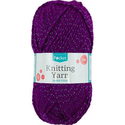 Sparkle Violet Knitting Yarn - 50g image number 1