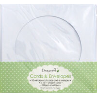 Window Cut Cards And Envelopes - Pack Of 10