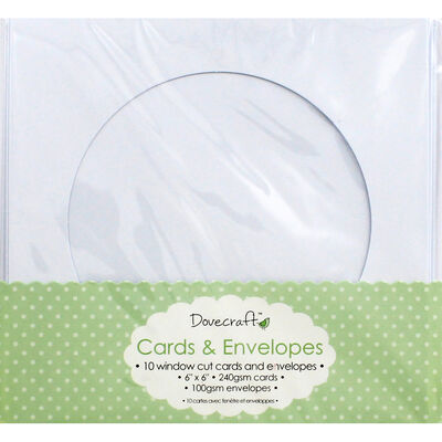 Window Cut Cards And Envelopes - Pack Of 10 image number 1