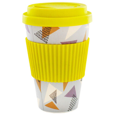 Retro Diamond Bamboo Eco Travel Mug image number 1