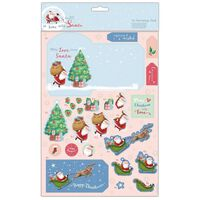 At Home with Santa Festive Wishes Decoupage Card Pack