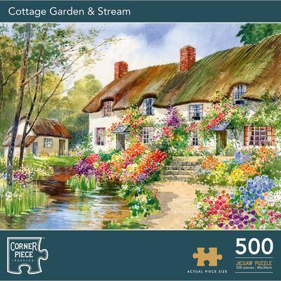 Cottage Garden & Stream 500 Piece Jigsaw Puzzle image number 1