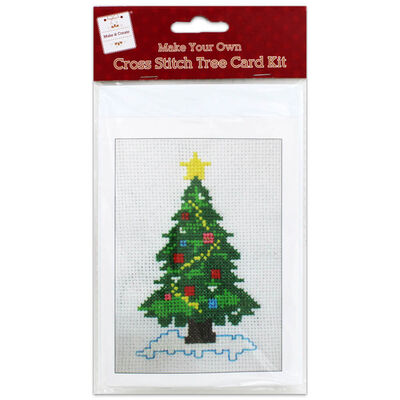 Make Your Own Cross Stitch Card Kit: Tree image number 1