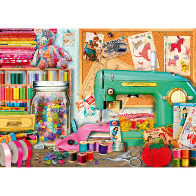 The Sewing Desk 500 Piece Jigsaw Puzzle image number 2