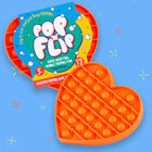 Pop 'N' Flip Bubble Popping Fidget Game: Assorted Heart image number 7