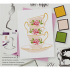 Crafters Companion Layering Stamp - Floral Tea Cups image number 2
