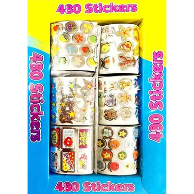 480 Foil Stickers image number 1