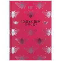 A5 Pink Bee 2021-2022 Day a Page Diary