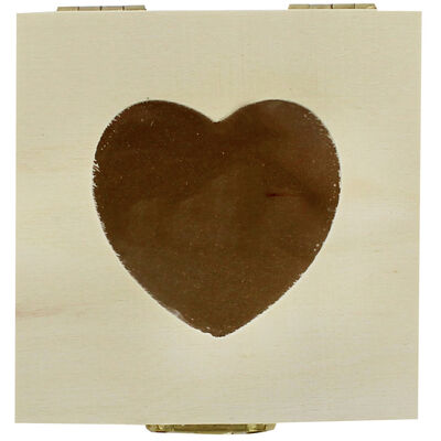 Small Wooden Heart Box image number 2
