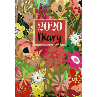 A5 Traditional Floral 2020 Week to View Diary image number 1