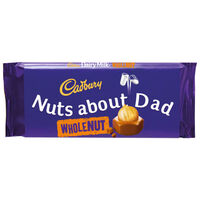 Cadbury Dairy Milk Whole Nut Chocolate Bar 120g - Nuts about Dad