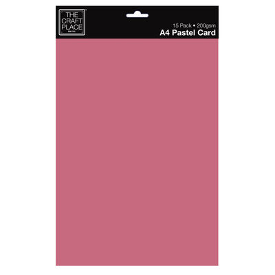 A4 Pastel Card: Pack of 15 image number 1