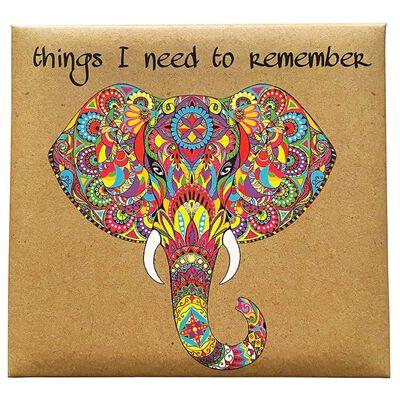Rainbow Elephant Memo Cube image number 4