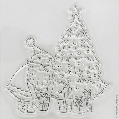 At Home with Santa Tree Clear Stamp image number 2