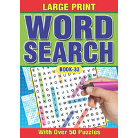 A4 Large Print Word Search: Assorted