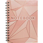 A5 Wiro Rose Gold Foil Lined Notebook image number 1