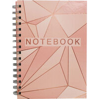 A5 Wiro Rose Gold Foil Lined Notebook