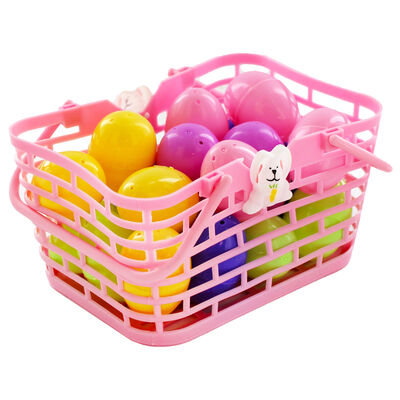 Easter Basket with Fillable Eggs - 20 Pack image number 1