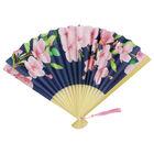 Navy Floral Paper Fan image number 1