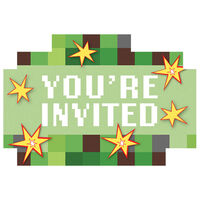 TNT Party Invitations: Pack of 8
