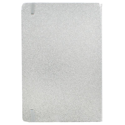A5 Silver Glitter Cased Lined Journal image number 3