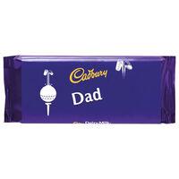 Cadbury Dairy Milk Chocolate Bar 110g - Dad Golf