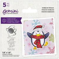 Gemini Stamp & Die Set: Wobbling Penguin
