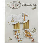 Guess How Much I Love You Cupcake Picks - Pack of 20 image number 1
