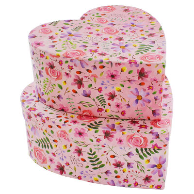 Floral Heart Shaped Storage Box - 2 Pack image number 2