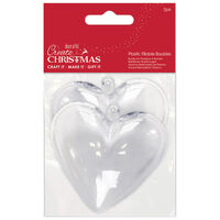 Fill Your Own Heart Shaped Baubles: Pack of 2