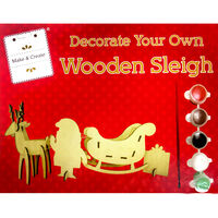 Decorate Your Own: Wooden Sleigh