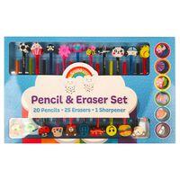 Pencil and Eraser Set